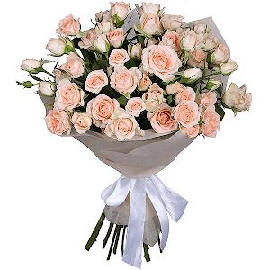 Букет из 11 кустовых роз с доставкой в Волжском