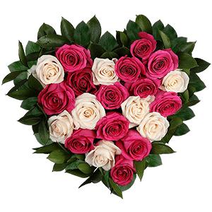 """Цветы на 14 февраля - Композиция """"С днем влюбленных!"""""""