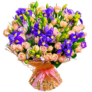 Дизайнерский букет +30% цветов с доставкой в Волжском