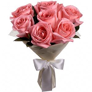 Букет из 7 розовых роз