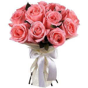 Букет из 11 розовых роз с доставкой в Волжском